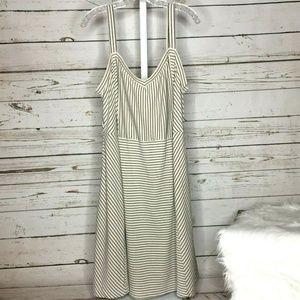Ann Taylor Loft striped dress size 22